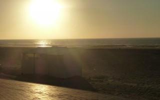 ondergaande zon in koksijde